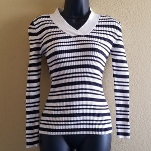 Basic Editions Striped Sweater